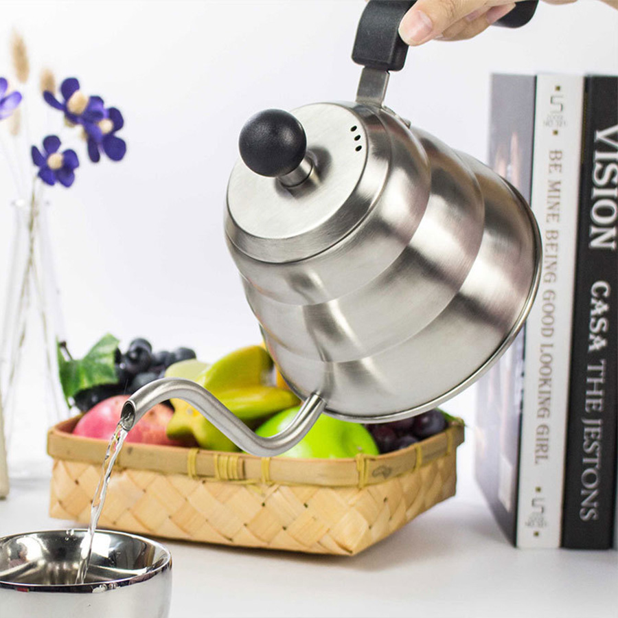 Coffee Maker Portable Pot Steel Pour Over Drip Coffee Kettle Teapot Coffee Maker Pot Mini Coffee Machine Coffee Pot For Home
