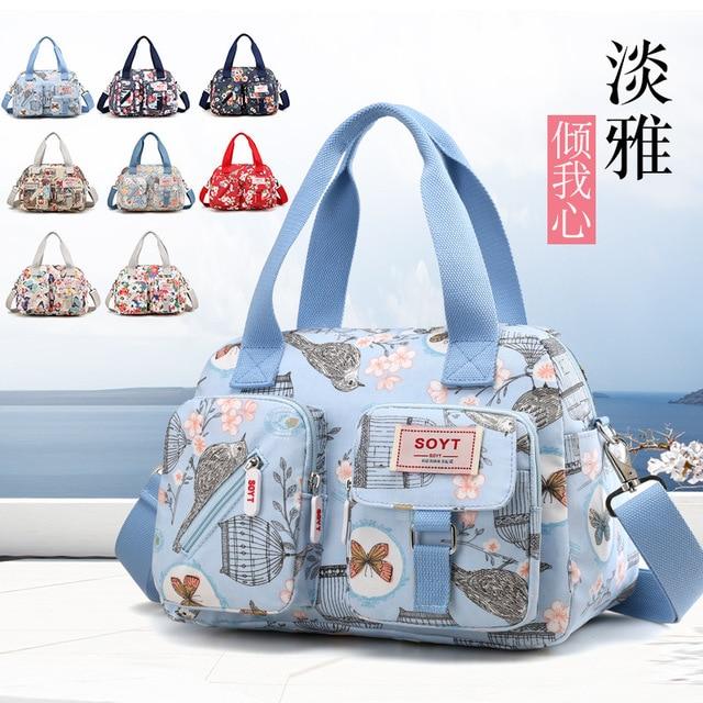 60da11c64009 Women Messenger Bag Vintage Travel Fashion Crossbody Bags Bolsas Femininas Handbags  Female Solid waterproof Nylon Shoulder BagsS