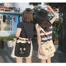 Miyahouse High Quality Simple Shoulder Bag For Women Canvas Material Messenger Bag For Female Cartoon Print Crossbody Bag Lady