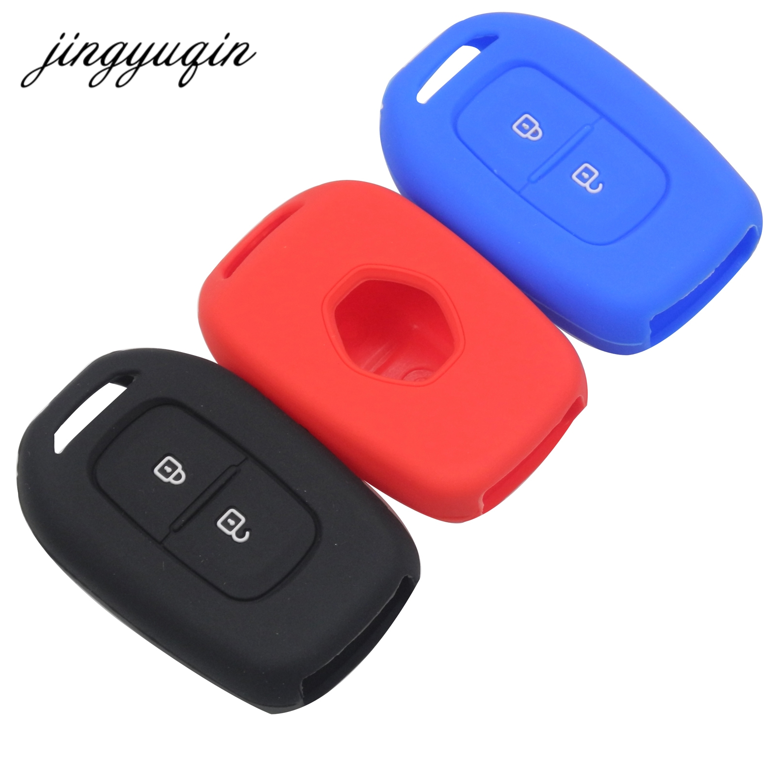 jingyuqin 2 Buttons Silicone Key Case for Renault Scenic Master Megane Duster Logan Clio Captur Laguna Fluence Remote FOB Cover jingyuqin 2 buttons silicone key case for renault scenic master megane duster logan clio captur laguna fluence remote fob cover