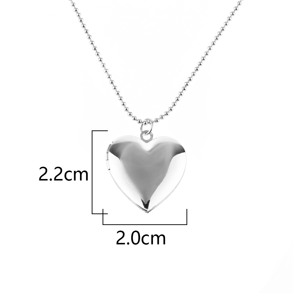 1 Pcs Fashion Girls Silver/Rose Gold Heart Shaped Necklace Friend ...