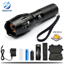 LED flashlight Tactical Flashlight 8000 Lumens CREE XM-L2 Zoomable 5 Modes aluminum Lanterna LED Torch Flashlights For Camping
