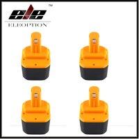 4x Yeni Eleoption 12 V 2000 mah Ni-cd Pil için Ryobi 1400652 1400652B 1400670 B-1230H B-1222H B-1220F2 B-1203F2