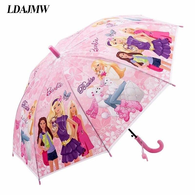 LDAJMW Hot Lovely Cartoon Umbrella For Sun Protection School Students Long Handle Umbrella For Kids Girls Boys Gifts