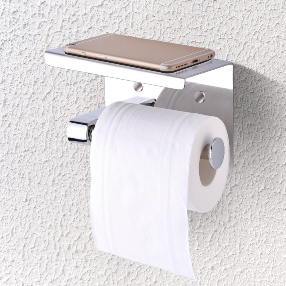Us 12 66 25 Off High Quality 304 Stainless Steel Wall Mounted Tissue Holder Bathroom Toilet Single Roll Paper Holders Tools In Portable
