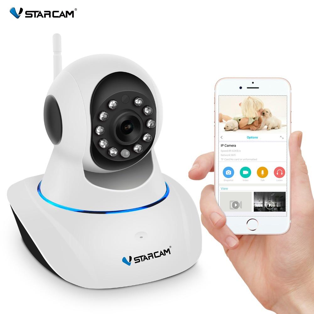 VStarcam IP Kамерa 720P Wireless видеонаблюдение Обнаружение движения Двухстороннее аудио Хранение памяти ИК-порт P/T сигнализация для дома сигнализаци...