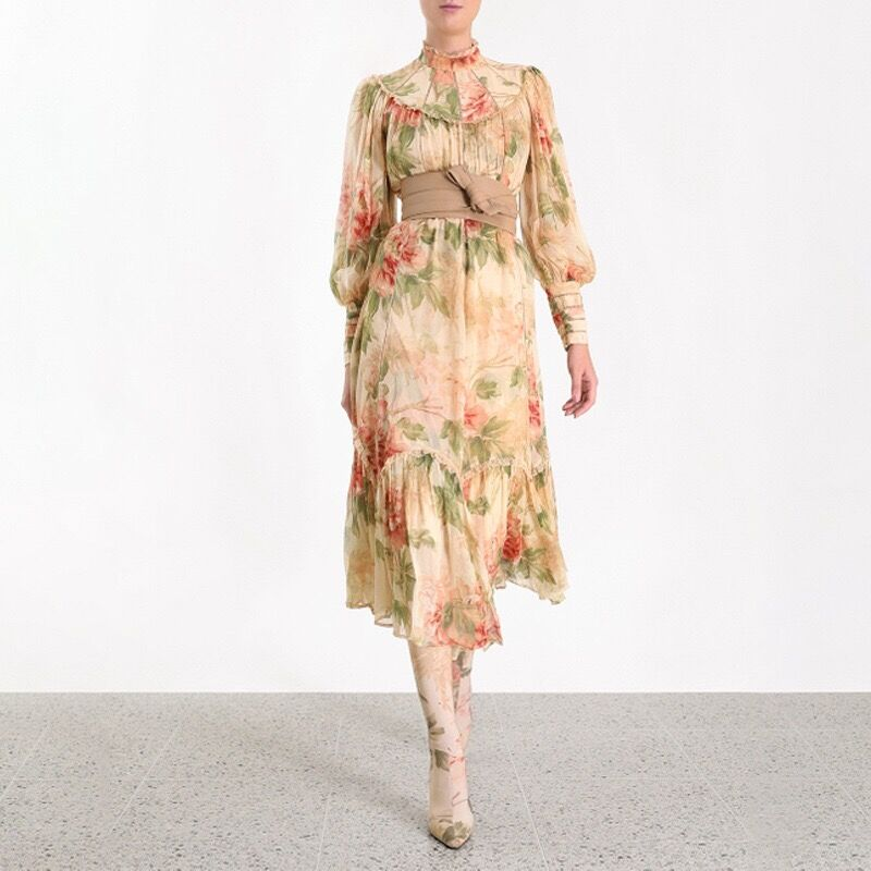 Vintage Print Dress Top Quality Sexy Women Night CLub Celebrity Evening Party Dresses