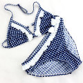 Cute Plaid Swimsuit 2016 New Summer Children Split Two-piece Swimsuit Girls Bikini Girls Beautiful Bikini Children's Swimwear