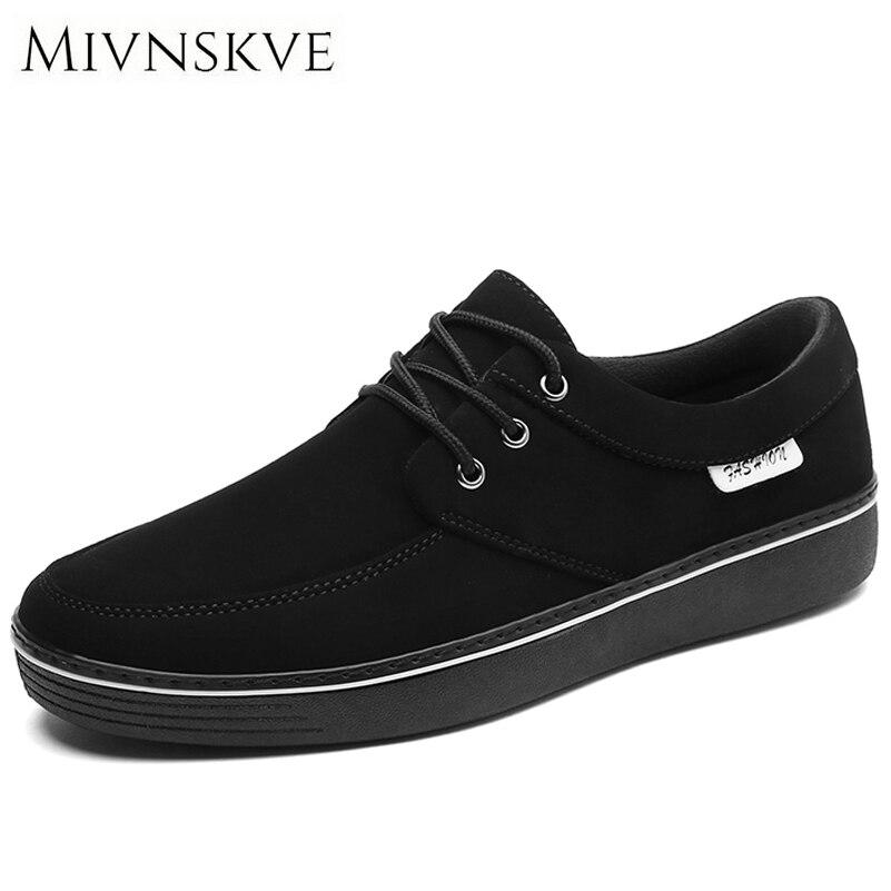 MIVNSKVE Plus Size 45 46 47 Canvas Rubber Sole Men Casual Shoes For Men Shoes 2017