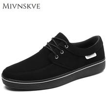 MIVNSKVE Plus Size 45 46 47 Canvas Rubber Sole Men Casual Shoes For Men Shoes 2017 Spring Autumn Male Footwear Plimsolls Flats