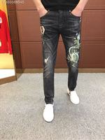 2018 new High Quality fashion Jeans Runway Summer man Brand Luxury Men's Clothing A08341