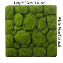 4 шт. Каменная форма Моховой травы коврик для помещений Зеленые искусственные газоны газон ковры поддельные Sod Moss для дома отель стены DIY Декор 30x30 см
