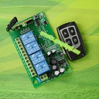 85v 250v 110v Rf Remote Control Outlet Switch 433mhz Wireless Relay Wireless Rf 4ch Electric Curtain