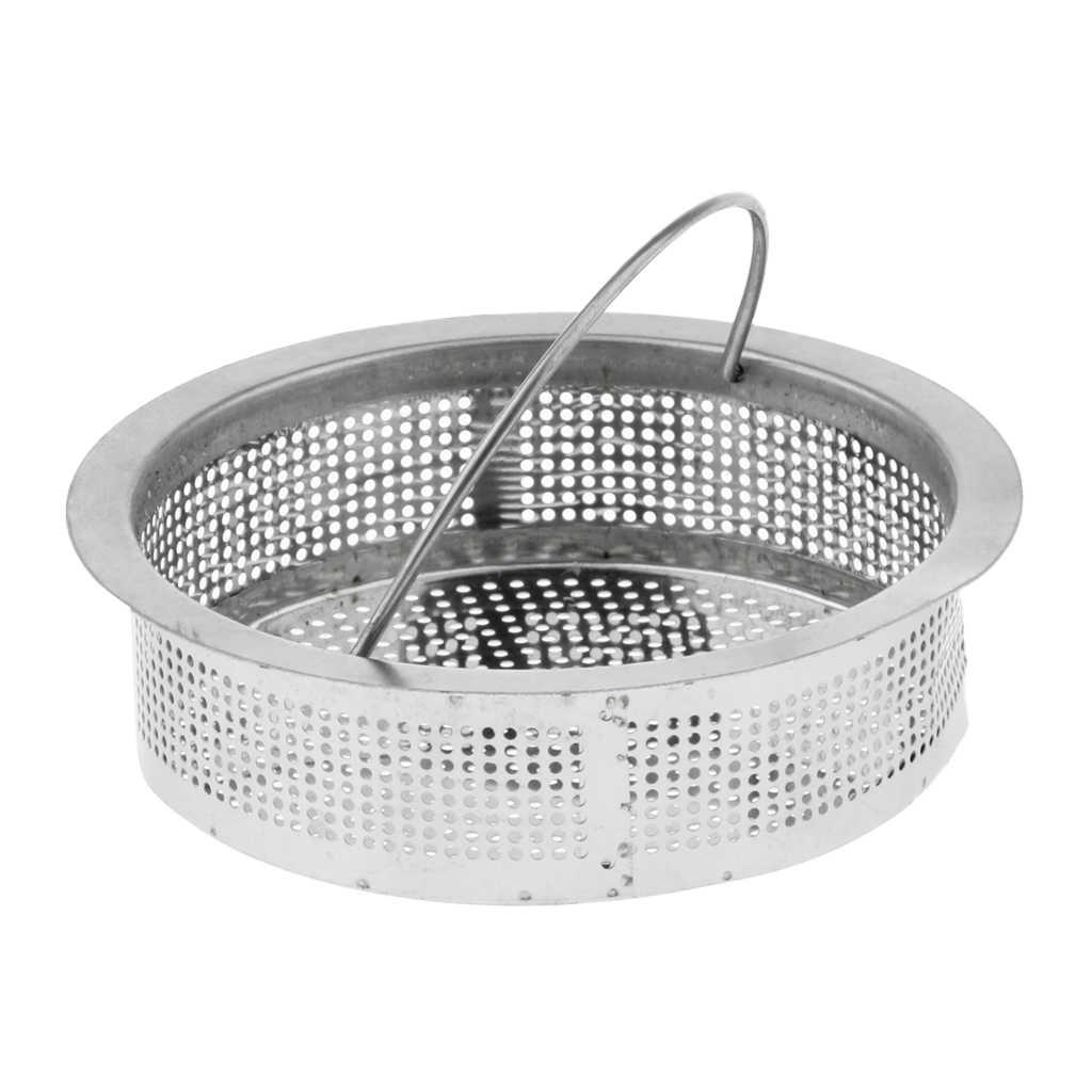 2 4 Cm Stainless Steel Hair Strainer Mesh Basket Cup Deep Waste Strainers Filter Bathroom Sink For Salon Shampoo Bowl Kitchen Colanders Strainers Aliexpress
