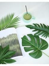 שונים סימולציה עלים צמח זהב ירוק עלה תוספות צילום אבזרי אביזרים לבית משרד תמונה סטודיו DIY קישוט