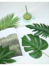 Diverses feuilles simulées plante or vert feuille INS accessoires de photographie pour la maison bureau Photo Studio bricolage décoration