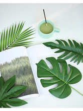 Various Simulated Leaves Plant Gold Green Leaf INS Photography Props Accessories For Home Office Photo Studio DIY Decoration