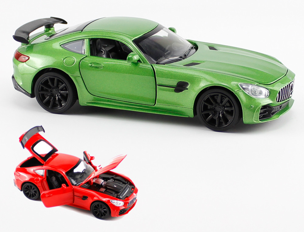 1/32 Simulated Minicar GTR Children's Open Door Sound Photosynthetic Gold Return Toy Car Children's Best Gift Toys Hot Wheels
