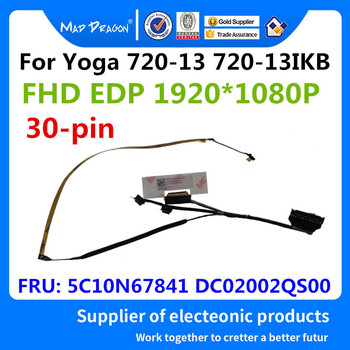 MAD DRAGON Brand Laptop New LVDS LCD Video cable For Lenovo Yoga 720-13 720-13IKB CIZY3 LCD FHD EDP CABLE 5C10N67841 DC02002QS00 image