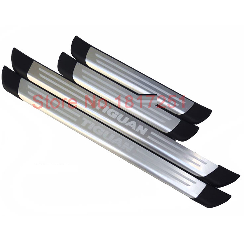 Free Shipping Door Sill Scuff Plate Stainless Steel Welcome Pedal Car Accessories For VW Tiguan стоимость
