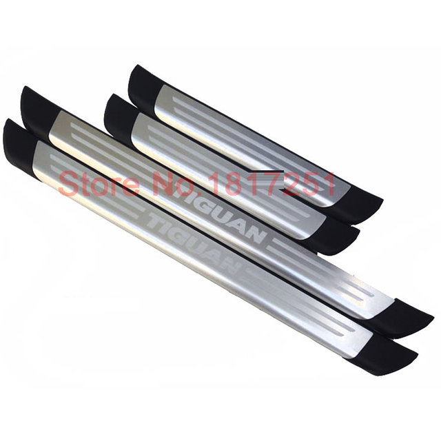Free Shipping Door Sill Scuff Plate Stainless Steel Welcome Pedal ...