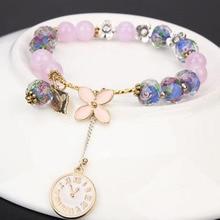 Crystal Clover Charm Personalized Bracelets & Bangles For Women Trendy Jewelry Handmade DIY Bracelet ювелирное изделие hw 493lp 2510