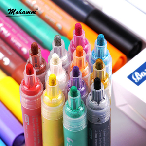 Image 3 - 12 24 Colors/Set STA Acrylic Permanent Paint Marker pen for Ceramic Rock Glass Porcelain Mug Wood Fabric Canvas Painting