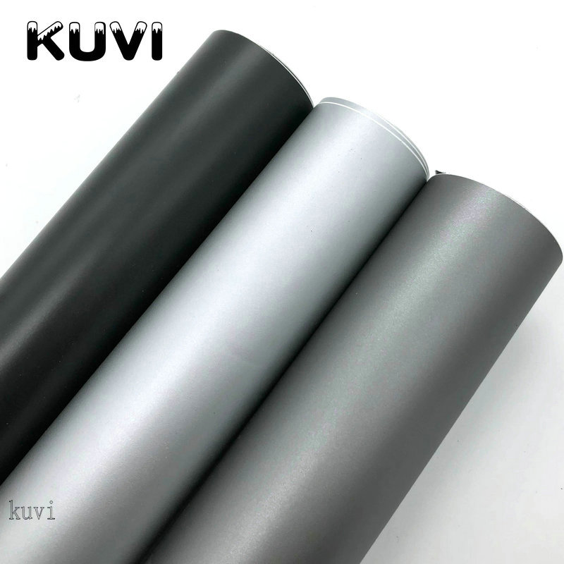 152CMX30CMMatte Silver Grey Black Vinyl Car Wrap Car Motorcycle Scooter DIY Styling Adhesive Film Sheet With Air Bubble Stickers(China)