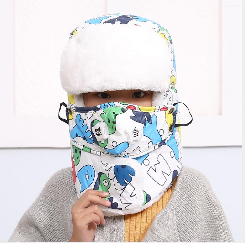 Bomber-Hats Winter Children for 4-12-Year Warm Thicken with Lining