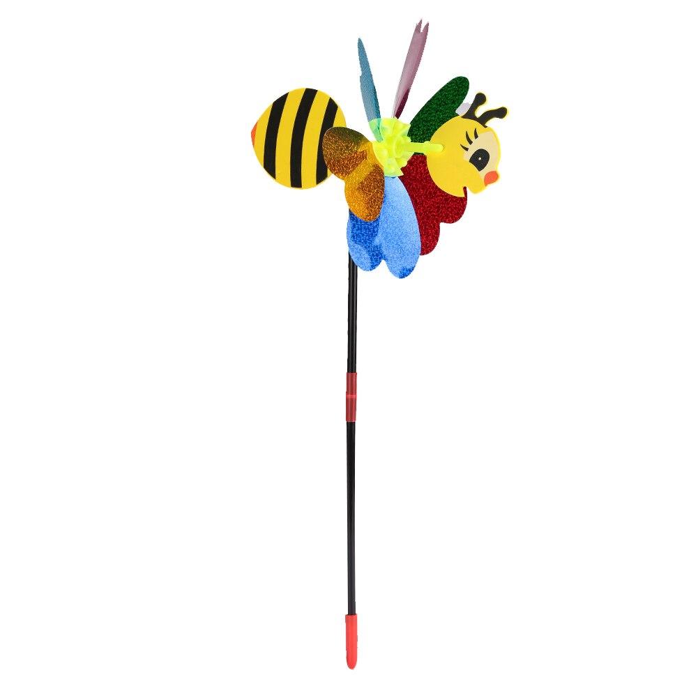 Цвет случайный пластиковый двора пчела ветряная мельница открытый Pinwheel 3D насекомое ветер Спиннер сад