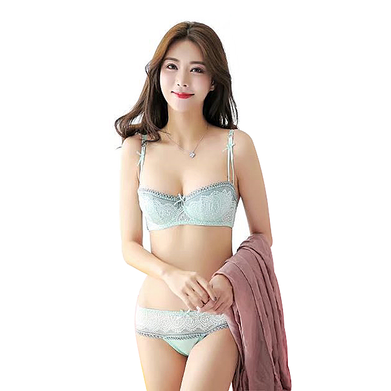 Explosion section half cups French style lace   bra   women sexy underwear   bra     set   lace lingerie   set