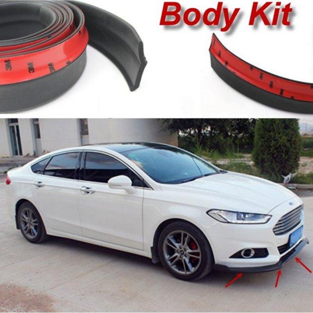 for ford for focus st car bumper lip deflector lips body kit strip front spoiler skirt. Black Bedroom Furniture Sets. Home Design Ideas