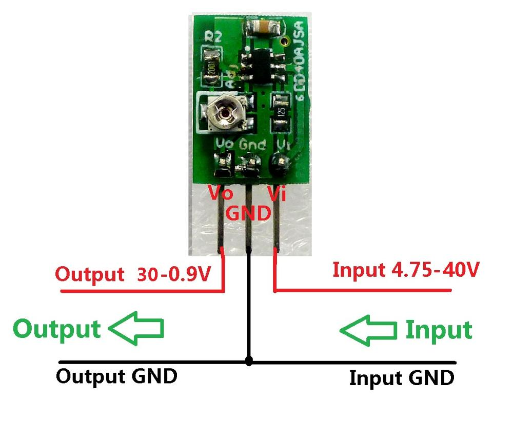 5pcs Dc Converter Step Down Buck 40 5v To 09 30v Adjustable Variable Power Supply Using 7805 Aeproductgetsubject