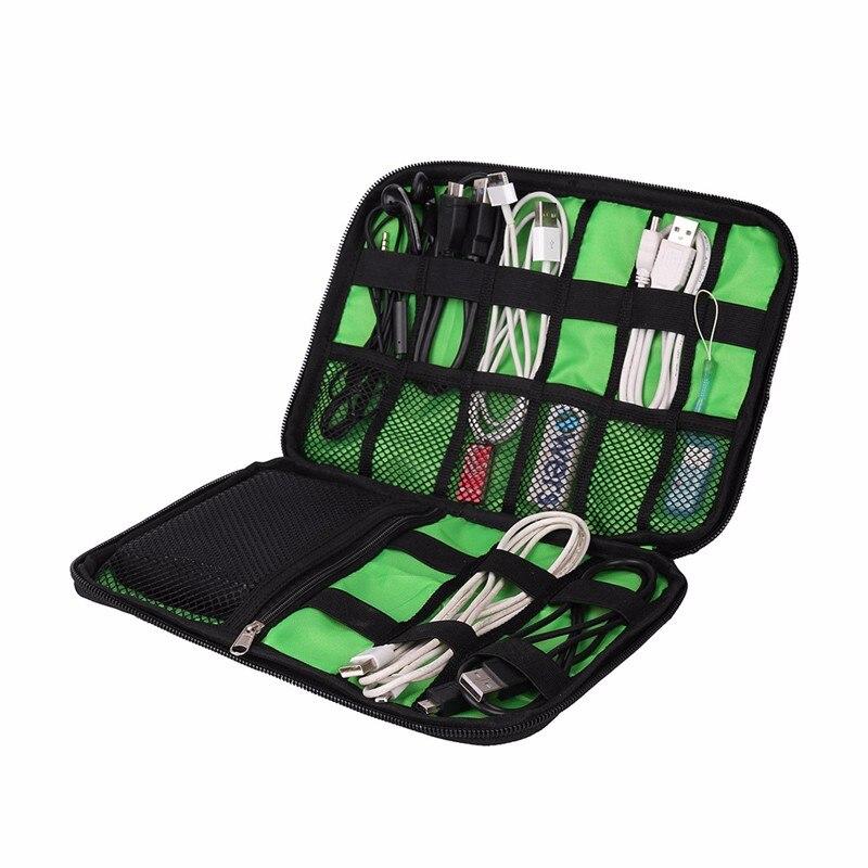 Acessorios eletronicos Saco Para Disco Rigido Drives Flash USB de Viagem Organizadores Para Cabos de Fone de ouvido Caso Saco De