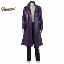 Cosplaydiy Suicide Squad Cosplay Costume Suicide Squad Joker Cosplay Suit Jacket Pants Adult Men Halloween Carnival Costumes