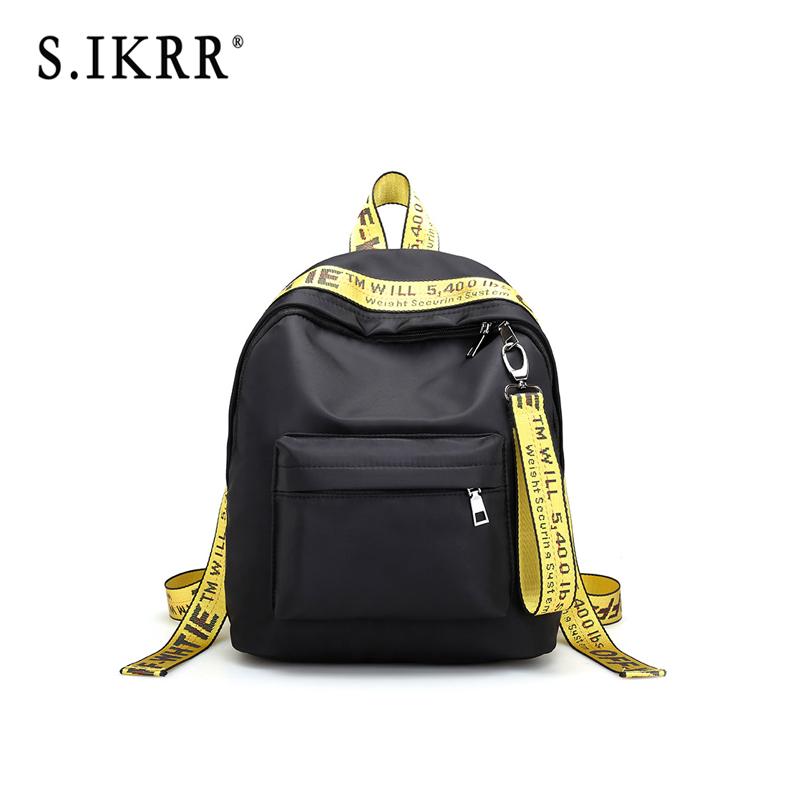 S.IKRR New Female Backpack Woman Men's Casual School Bags Waterproof Large Capacity Backpacks For Girls Ladies Travel 2019