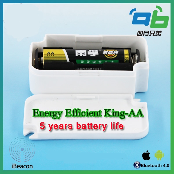 10pcs AA battery Bluetooth4.0 Beacon with iBeacon & Eddystone Tech 5 years life