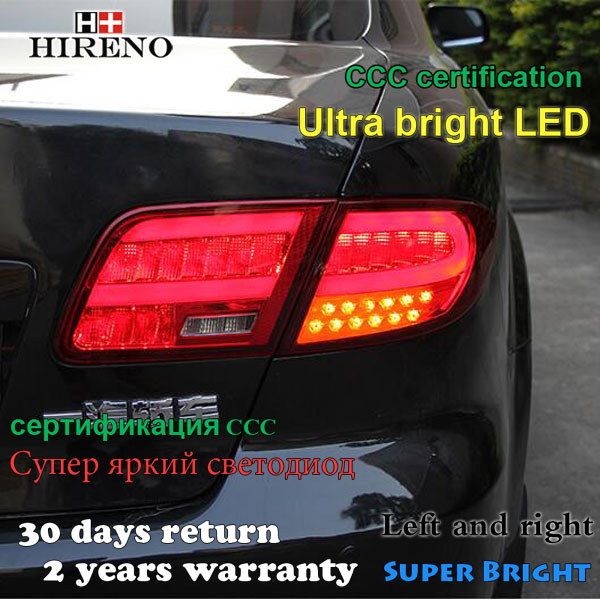 Hireno Tail Lamp for Mazda Mazda6 2005-13 Taillight Rear Lamp Parking Brake Turn Signal Lights led hireno tail lamp for toyota land cruiser lc70 fj77 78 79 rj77 1991 1996 taillight rear lamp parking brake turn signal