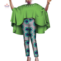 New Fashion 2 piece sets womens outfits Dashiki Elegant set for Women Pants & Robe Top Plus Size African Clothes WY4275