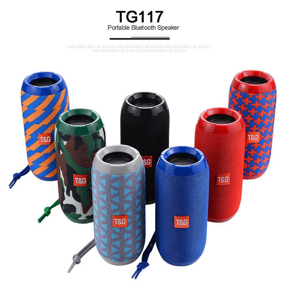 Portable Speaker Wireless Bluetooth Speakers TG117 Soundbar Outdoor Sports Waterproof Support TF Card FM Radio Aux Input machine