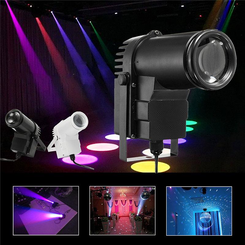 Smuxi 10W RGB Beam Stage Lighting Effect Pin Spotlight Disco Bar Party DJ Show Projector Decor LED Stage Lamp AC90-240V mini rgb led party disco club dj light crystal magic ball effect stage lighting