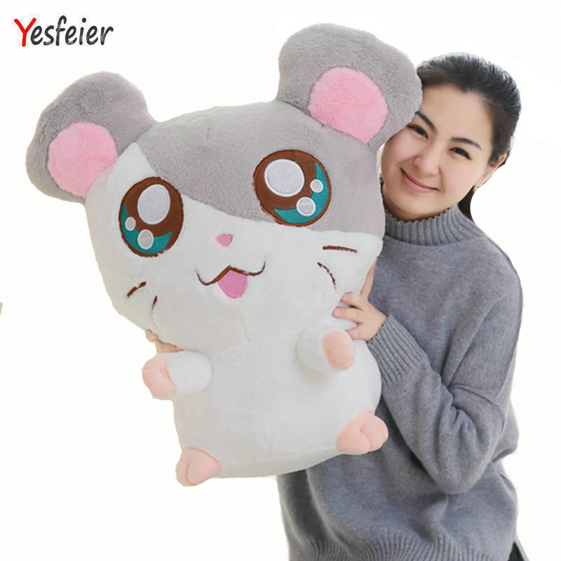 20-60cm Yesfeier Hamster Mouse Plush Toy Stuffed Soft Animal Hamtaro Doll Lovely Kids Baby Toy Kawaii Birthday Gift for Children yoda plush 1pc 922cm star wars figure plush toy aliens yoda soft stuffed plush doll toy kawaii toy for baby