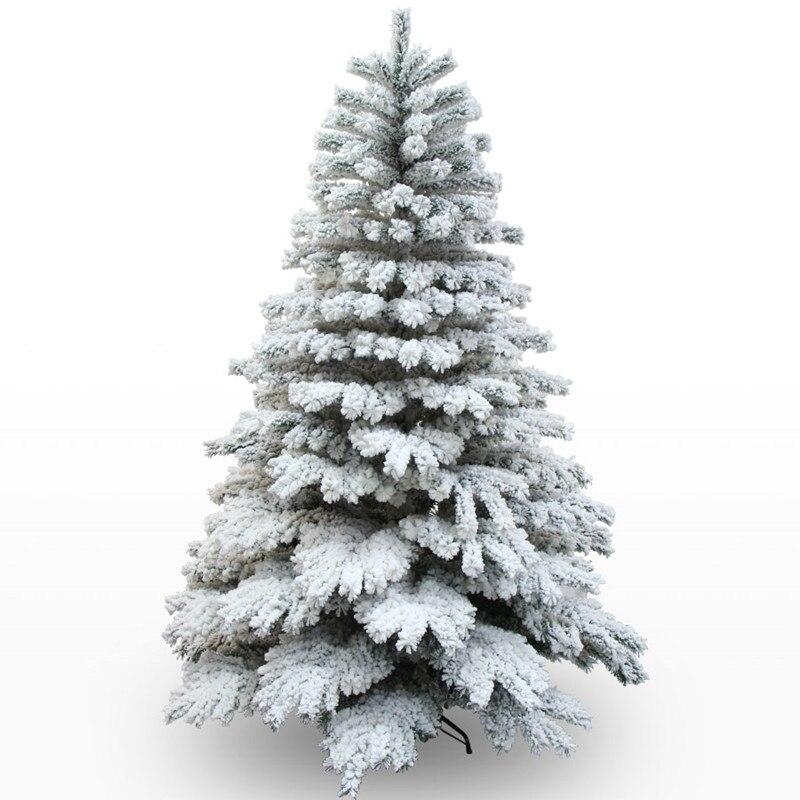 1.8 m/180 cm 2.1 m/210 cm neige dépendance suspendus arbre De Noël de neige De Noël arbre center commercial décoration de la maison