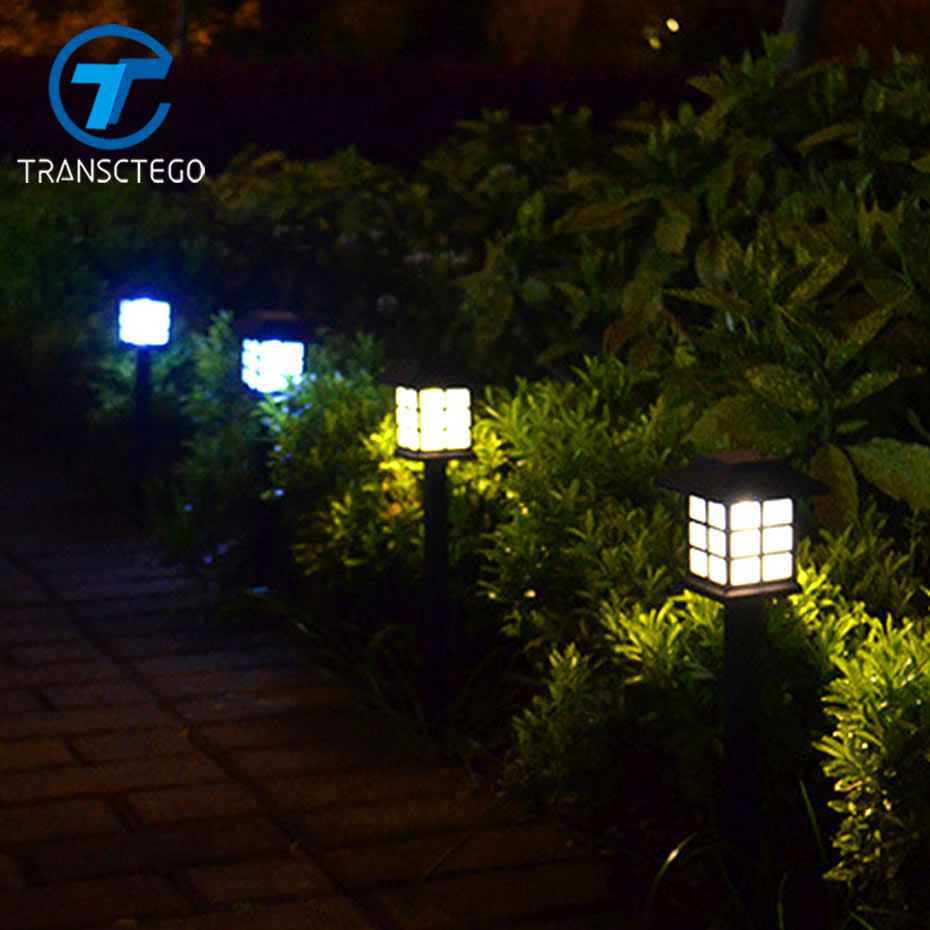 TRANSCTEGO Solar Lawn L&s Outdoor Garden Spotlight LED Path Lantern Backyard Landscape Lighting Retro Land Stake Light 4 pcs-in Solar L&s from Lights ... & TRANSCTEGO Solar Lawn Lamps Outdoor Garden Spotlight LED Path ...
