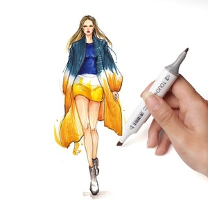 Image 4 - TOUCHNEW 30 40 Color Pen Professional Superior Artist Quality Double ended Permanent art Marker Pen Comic Drawing Art Projects