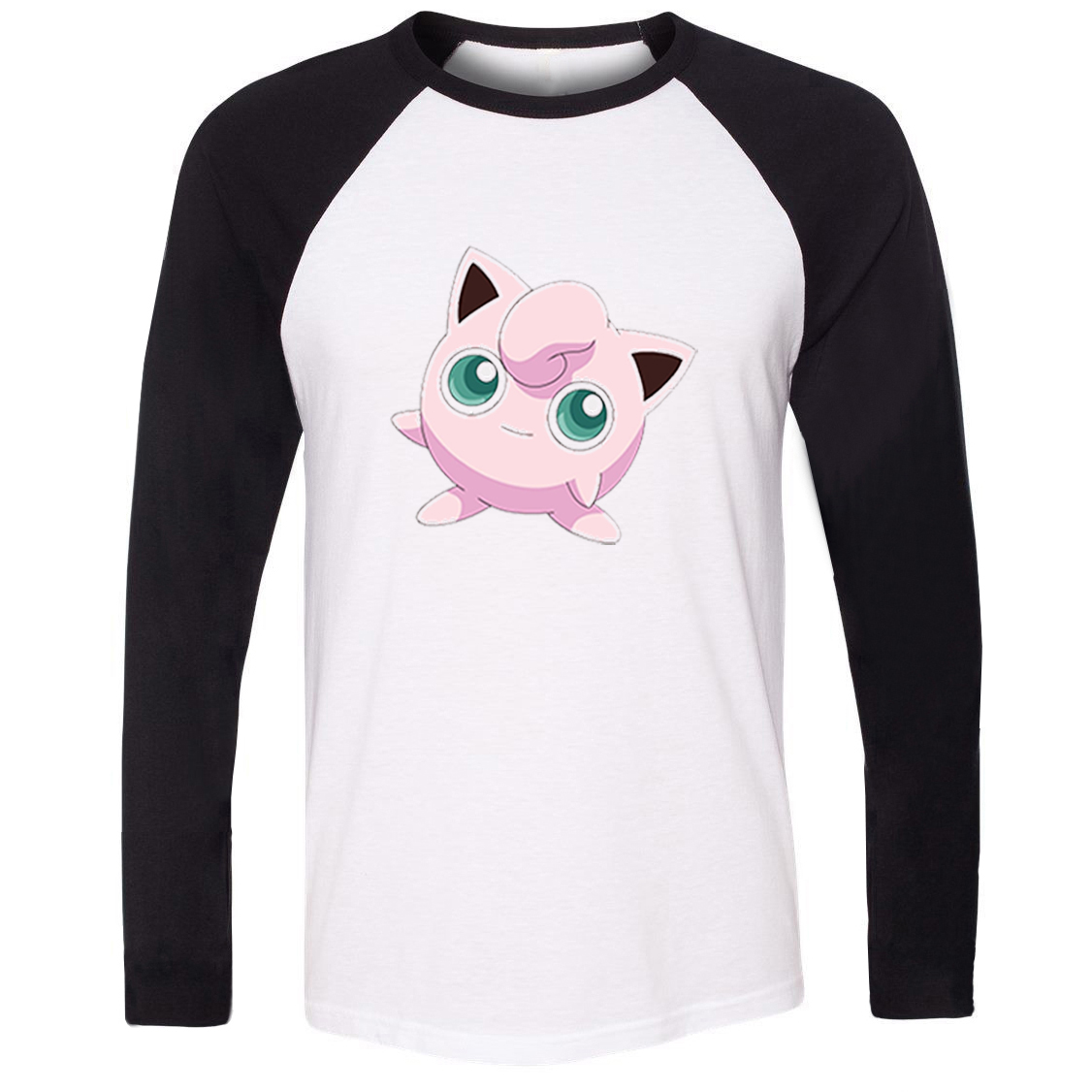 48e177e7 Unisex T shirt Pokemon National Pokedex 039 Normal Fairy Type Jigglypuff  Pattern Raglan Long Sleeve Men T shirt Casual Tee Tops-in T-Shirts from  Men's ...