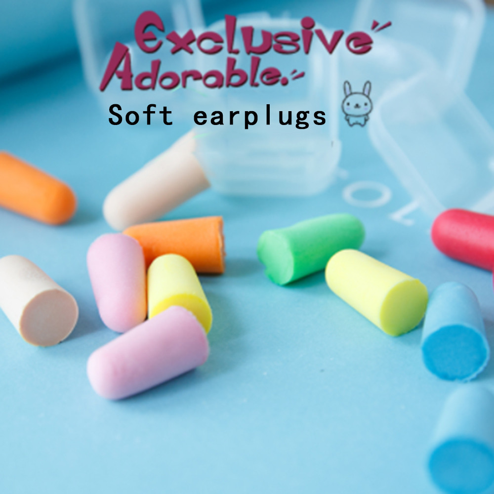 Hot Sale Foam Soft Corded Ear Plugs Noise Reduction Earplugs Swimming Travel Protective Earmuffs Anti-noise Sleeping Plugs