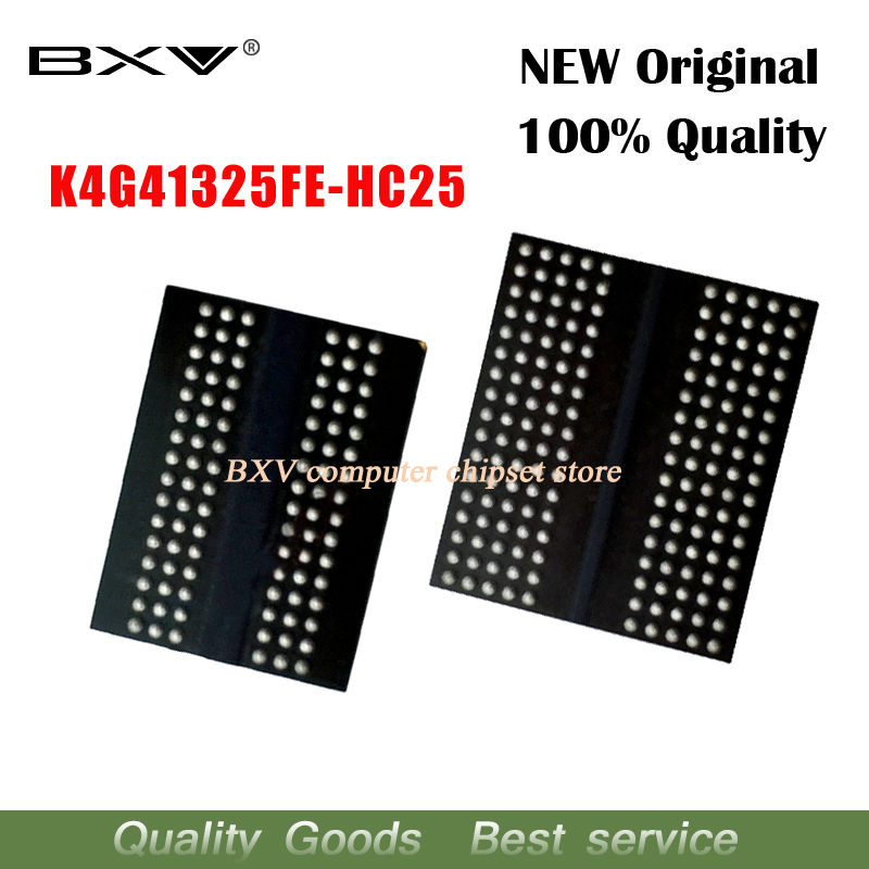4pcs 100% New K4G41325FE-HC25 K4G41325FE HC25 BGA Chipset4pcs 100% New K4G41325FE-HC25 K4G41325FE HC25 BGA Chipset