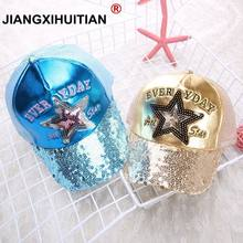 2018 Hot Sequins Ear Hats Kids Snapback Baseball Cap With Ears Funny Hats Spring Summer Hip Hop Boy Hats Caps free shipping(China)