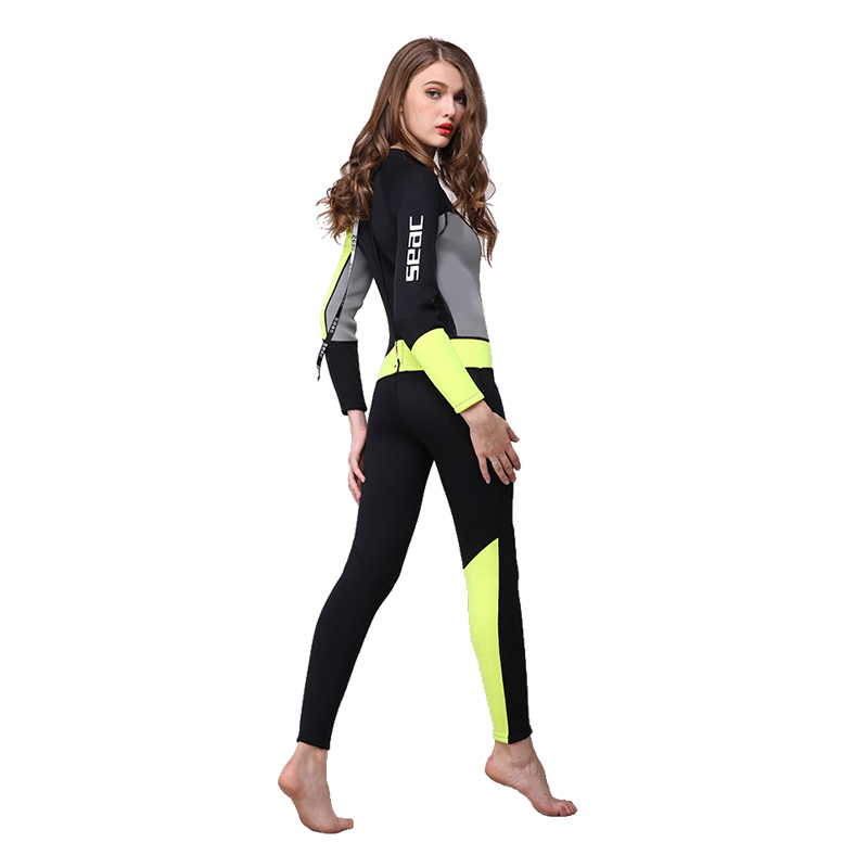 Women Long Sleeved and Warm Wetsuit 3mm Diving Suit Swimming Suit Neoprene Diving Suit Swimsuit Swimwear